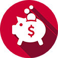 Red Piggy Bank Icon
